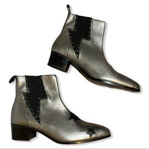 Vice by Modern Vice Silver Lightning Bolt Boots